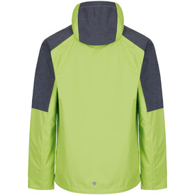 Regatta Alkin II Jas Heren, lime green/seal grey reflective